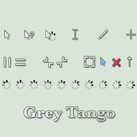 Grey Tango Cursor by vicing