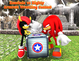 Knuckles Vs Mighty Render by NIBROCrock