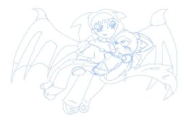 Flying up and meet heart :WIP: by DestinyMeow
