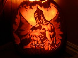 Batman Jack-o-lantern by BClary