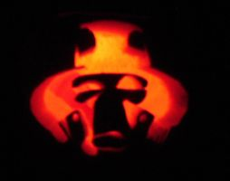 Cad Bane Pumpkin by DarthZemog