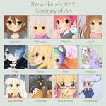.2012 Art Summary. by lNeko-Hime