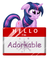Hello I'm Adorkable by Jewelscore
