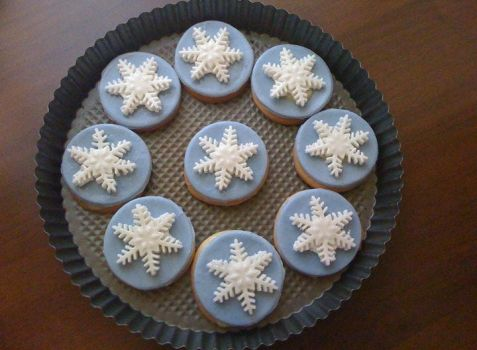Snowflakes cookies by timebakery