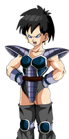 Female Saiyan With Turles Armor by EliteSaiyanWarrior