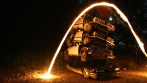 policecars on fire by UrbanCalligraphism