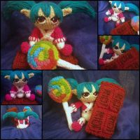 Lollipoppy amigurumi from League of Legends by ForgottenMermaid
