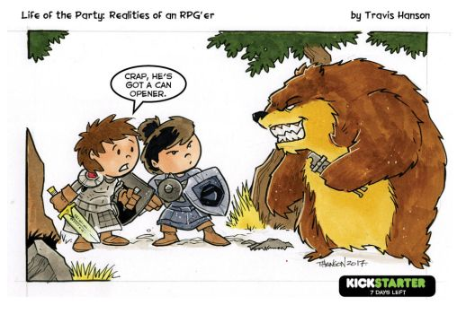 Weapons and monster - rpg comic by travisJhanson