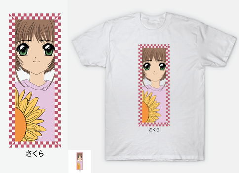 Card c Captor Sakura Checkered - shirt by mehipnotizas