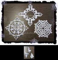 Paper Snowflakes - 1 by Kimi-Parks