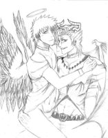 GrimmIchi - Demon and Angel by yaminita