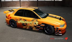 Applejack Subaru Rally Car by nrxia