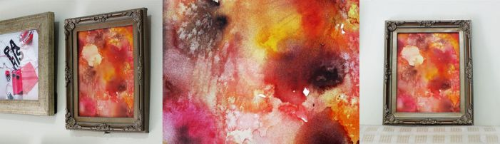 Watercolor Abstract III framed by Jadesweetboxx