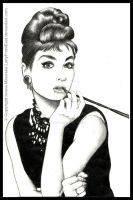Audrey Hepburn commission by LadyFromEast