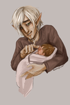 Fenris Holding His Son by kirsten7767