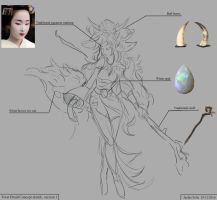Forest druid concept sketch by Jackiefelixart
