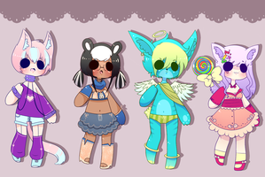 Kemonomimi Adopt Set~ (CLOSED) by ribbon-adopts