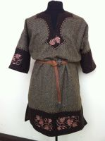 Fae fairy Celtic Tunic brown by RobynGoodfellow
