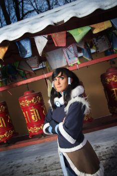 Korra in the Air Temple by Nishi-Gantzer