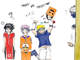 Naruto Team 7 Halloween ver. by chuwei