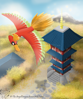 The Legend of the Rainbow Bird Ho-oh by TheAngelDragon