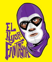 mexican wrestlers by nachuuu