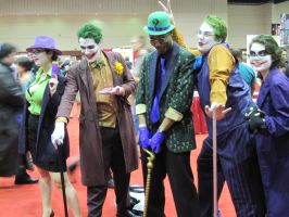 Jokers/Riddler at MegaCon by deadpool24