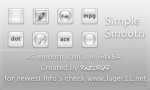 Simple Smooth Iconset  v1.0 by Razor99
