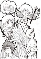 aph - Britannia Angel Drawings by jackzarts