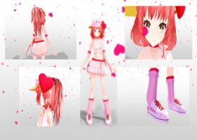 MMD download TDA Amu by Lucie-Chan