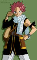 Fairy tail natsu dragneel -colour-. by Honda-Thoru