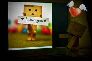 Danbo with Chatmate by lee-sutil