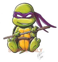 Chibi Donatello sticker design by Bee-chan