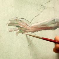 Wip detail of a hand by rpintor