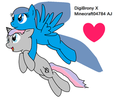 Me and dadad,,, DIGIBRONY WHAT THE by minecraft04784