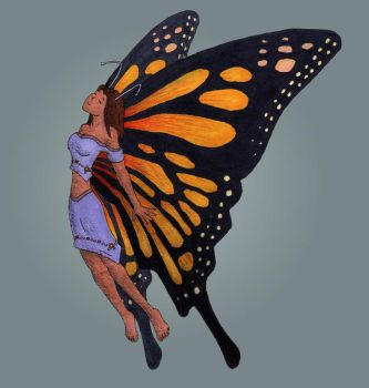 Anthro Butterfly by gigazelle