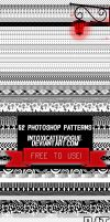 52 Photoshop Patterns by intoxicatedvogue