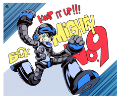 Keep it up! Mighty No.9 by daNieLsZx