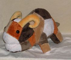 Patchwork Bantha plush by Bladespark