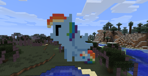 Rainbow Dash Pixel Minecraft by MissiTofu