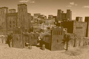Kasbah Sepia by PhotoGraphicdesign