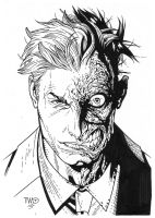 Two Face inks by JosephLSilver