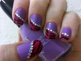 Girly Tiger Nail Art by MissDaniLips