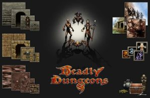 Deadly Dungeons Game Assets by Dreamphaser