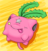Hoppip for Jadey by BakaMichi