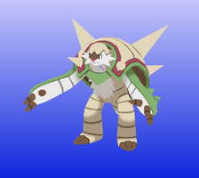 Chesnaught Papercraft Preview by amigolol