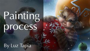 Big Fat Cat painting process (VIDEO) by LuzTapia
