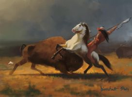 Study of The Last of the Buffalo by crazypalette