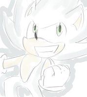 sketchy chara- Hyper Sonic by LeniProduction