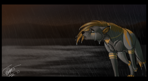 A Sad Walk In the Rain by KurnalBushyBrows